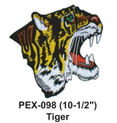 25cm - 1.3cm Embroidered Animal Patch Tiger
