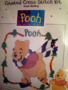 Skating Pooh Counted Cross Stitch Kit -- Frame size 26cm x 26cm