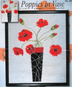 Design Works Counted Cross Stitch kit - Poppies In Vase