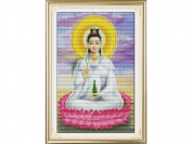 Happy Forever Cross Stitch,Chinese style figure, Lotus guanyin 1