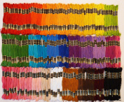 Iris Embroidery Floss - Lot of 150 Skeins - 35 Assorted Colours, 8.75 Yards Each!
