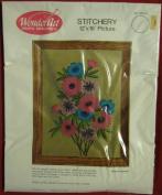 """Wonder Art Wonderart Creative Needle Crafts Needlecrafts """"Summer Garden"""" Stitchery 30cm X 41cm 05110"""
