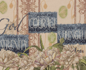 Bucilla 45563 Counted Cross Stitch, Serentity, Courage, Strength
