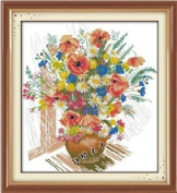Happy Forever Cross Stitch, Flowers, Gorgeous vase