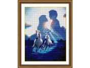 Happy Forever Cross Stitch,Figure, Lovers under the awning