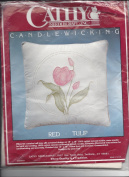 "Candlewickery ""Red Tulip"" Design By Jean Fox Pillow Candlewicking Kit #7922"