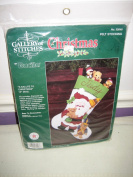 """A Salute To Christmas"" Felt Stocking Kit by Bucilla"