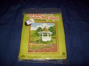"Vintage 1980 Sunset Needlepoint ""Springtime Gazebo"" Kit"
