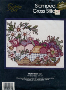 Golden Bee Fruit Basket Stamped Cross Stitch Kit