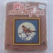 Robin and Apple Blossoms Needlepoint Kit
