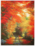 MCG Textiles 52400 Gold Collection Counted Cross Stitch Kit, Autumn in New England by Charles White