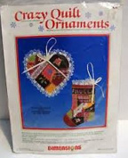 Dimensions Crazy Quilt Christmas Ornament Counted Cross Stitch Kit