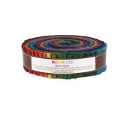 Robert Kaufman KONA COTTON SOLIDS DARK Skinny Strips 3.8cm Precut Cotton Fabric Quilting Roll Assortment SS-107-41