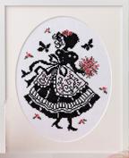 "Orimupasu made cross stitch embroidery kit ""stitch girl Onoe, Megumi"" No.7384 bouquet"