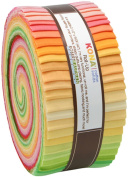 Kona Cotton Solids SUNRISE COLORSTORY Jelly Roll Up 6.4cm Fabric Quilting Strips Robert Kaufman RU-262-43
