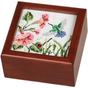Sudberry House 99721 Simply Square Box, 6 by 15cm by 7cm , Mahogany Finish Multi-Coloured