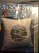 Stenci Stitch English Country Cottage, Pattern 7001 kit