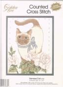 Siamese Cat 8 x 10 Counted Cross-Stitch Kit