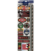 Signature Series 2012 Cardstock Combo Stickers 11cm x 30cm -Racing