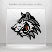 Sticker Decal Wolf Head car window bike ATV jet-ski Garage door 0500 W955W