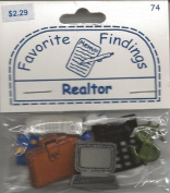 Realtor Buttons for Scrapbooking