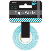 Tape Works Tape, Dark Blue and Green Diagonal Stripes