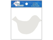 AD Paper Chipboard Shapes 8pc Bird White