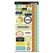 Garden Grove Memories Cardstock Scrapbook Stickers