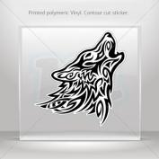 Decals Stickers Tribal Wolf Attack car helmet window bike Garage door 0500 RS23X