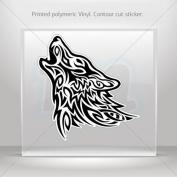 Decal Stickers Tribal Wolf Attack car helmet window bike Garage door 0500 RS232
