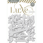 Luxe Chipboard Shapes-Arrows 19/Pkg