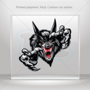 Stickers Decals Wolf Head car window bike ATV jet-ski Garage door 0500 RS259