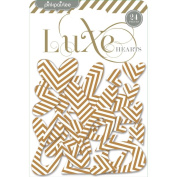 Luxe Chipboard Shapes-Hearts 24/Pkg
