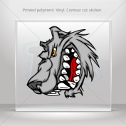 Sticker Decal Wolf Heaf car window bike ATV jet-ski Garage door 0500 W957W