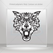 Sticker Decal Wolf Head car window bike ATV jet-ski Garage door 0500 RS2XW