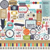 Echo Park That's My Boy Element Scrapbook Sticker Sheet