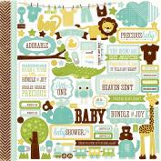Bundle Of Joy Boy Cardstock Stickers 30cm x 30cm -Element