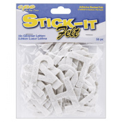 Stick It Felt 5.1cm Numbers and Letters, Glimmer White 55/Pkg