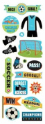 American Traditional Game Day Soccer Shimmer & Shine Stickers