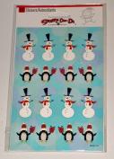Christmas Snowmen & Penguin Stickers