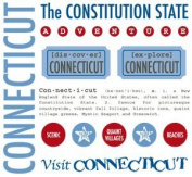 Connecticut Stickers USA // SRM Stickers