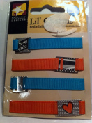 Lil Charms Chic Ribbon Silver Charm Pack of 4