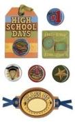 High School Mixed Media Dimensional Scrapbook Stickers