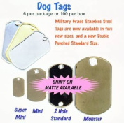 American Tag Double Punch Matte Dog Tags 6/Pkg