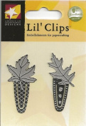 Large Silver Leaf Clips Metal Lil' Clips for Scrapbooking