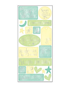 Sweet Beginnings Baby Shower Cardstock Scrapbook Stickers