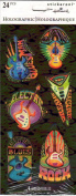 Electric Guitar Rock Blues Holographic Scrapbook Stickers