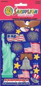America Patriotic Theme Scrapbook Stickers