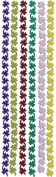 Four Lear Clover Ribbon Scrapbook Stickers