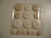 Button Ups Adhesive Button Embellishments White/cream for Scrapbooking, Card Making & Craft Projects